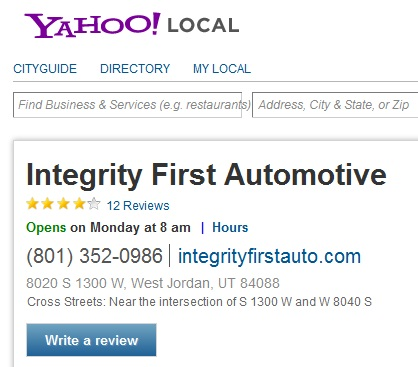 Integrity First Automotive Yahoo Reviews